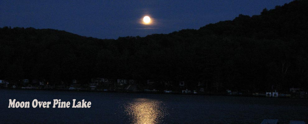 Moon on Pine Lake